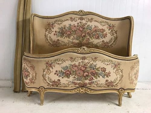 "SOLD - Antique French Bed - Full Corbeille - "" Butterfly Bed "" - B76"