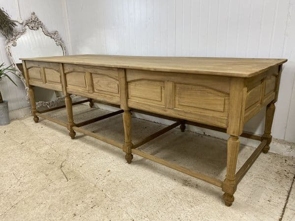 SOLD - Antique Oak Monastery Centre Table - Ideal kitchen island etc.