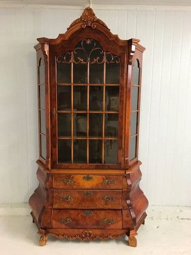 SOLD -Dutch Style  Display Cabinet - Cupboard - ds982