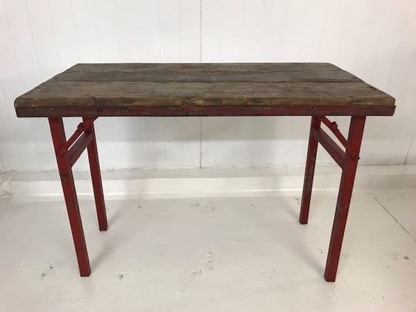 SOLD - Industrial Folding Table -  a02 - LARGER AVAILABLE