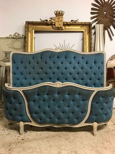SOLD - Vintage French Double Bed - fd150