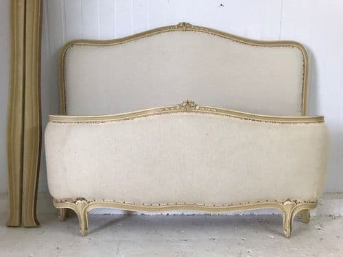 SOLD - Vintage French Double - Stripped ready for upholstery - gh121