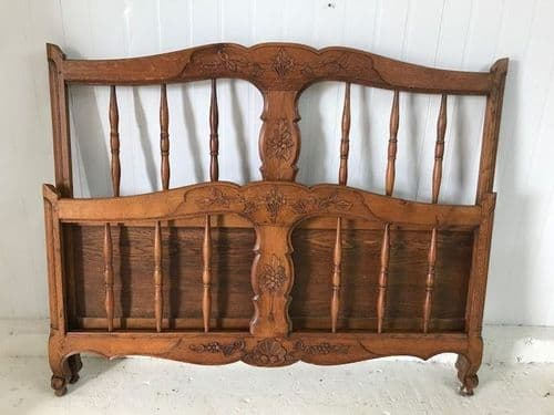 Vintage  Double French Bed - Great Detail - tr11