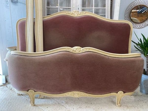 Vintage French King Size Bed - g137