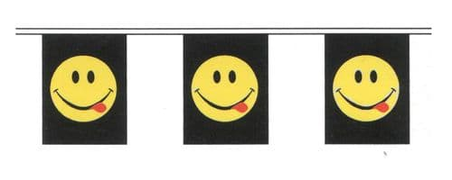 Acid Smiley Bunting