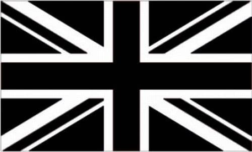 Black Union Jack Flag