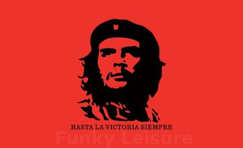 Che Guevara Flag - Hasta la victoria siempre