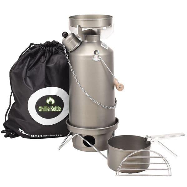 Ghillie Kettle Adventurer 1.5L Hard Anodised - Combo Cook Kit