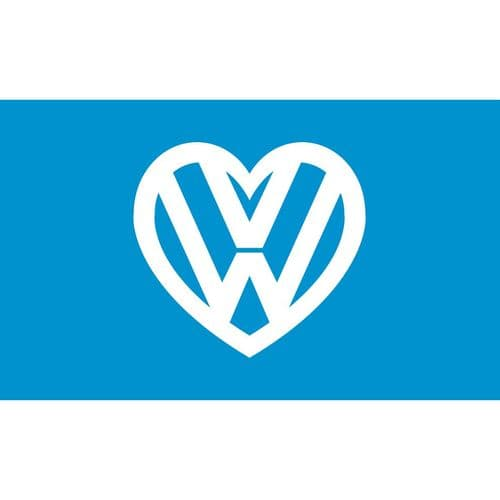 I love my VW Flag - Blue