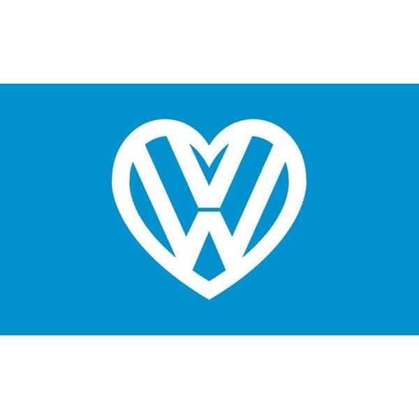 I love my VW Flag - Blue