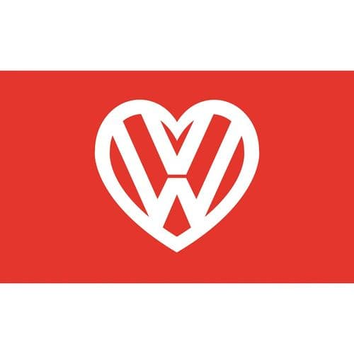 I love my VW Flag - Red