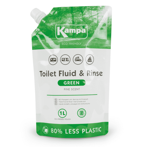 Kampa Eco-Friendly Toilet Fluid & Rinse – 1L Refill Pouch