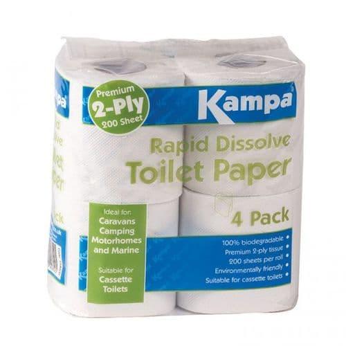 Kampa Rapid Dissolve Porta Toilet Paper – 4 Pack