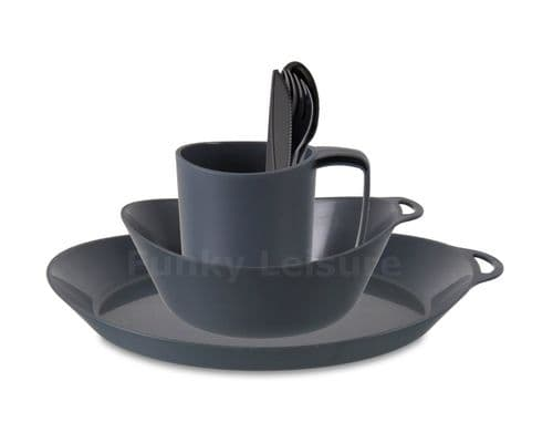 Lifeventure Ellipse Camping Tableware Set - Graphite
