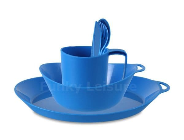 Lifeventure Ellipse Tableware Set - Blue