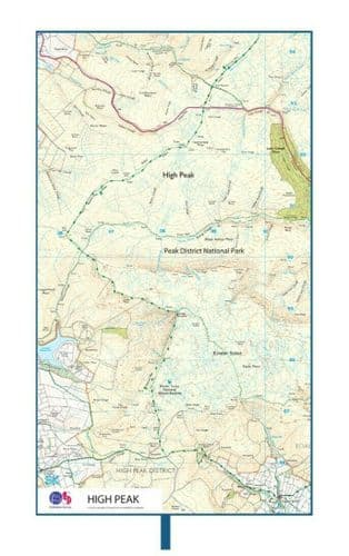 Lifeventure Ordnance Survey Map Travel Towel - High Peak