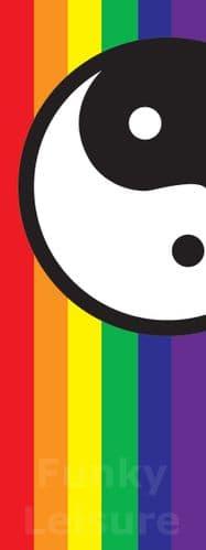 Rainbow Balance Banner Flag