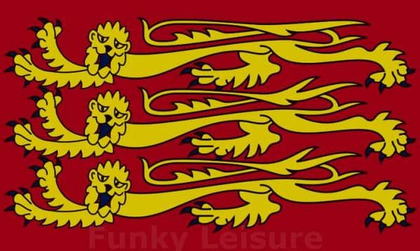 Three Gold Lions - Royal Banner of England Flag