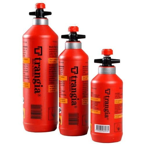Trangia Fuel Bottle with Safety Valve – 1L, 0.5L & 0.3L - RED