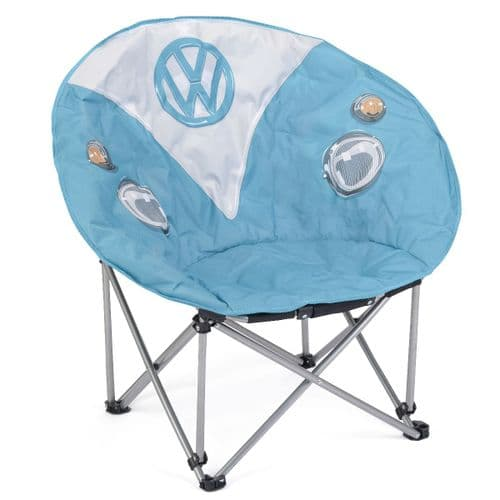 VW Splitty Campervan Camping Moon Chair - Dove Blue