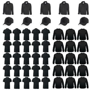 50 Embroidered Items Kit