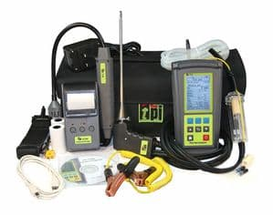 TPI 716 Flue Gas Analyser Kit 4 with 2 x Pipe Clamps + Gas Sniffer (716-KIT4)