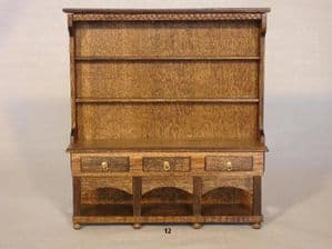 12b. Three-Drawer High Dresser