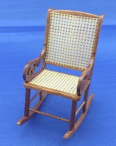 255. Victorian Rocking Chair (Mesh Seat & Back)
