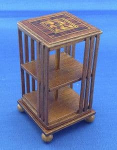 287. Revolving Bookcase (Inlay Lid)