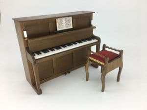 303. Upright Piano and Stool