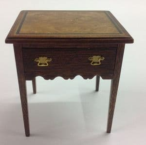 309. Square Inlay Side Table