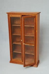 63a. Glass Bookcase