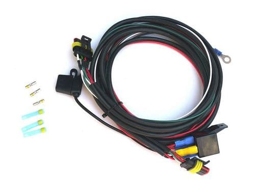 RS range twin lamp relay harness with splice