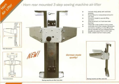 Horn Rear Mounted 3 Step Push Down Release Air Lifter