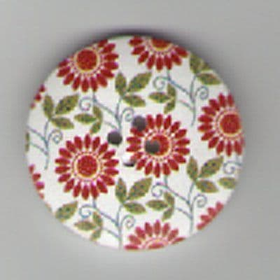 Painted Wooden 2 hole Button B1