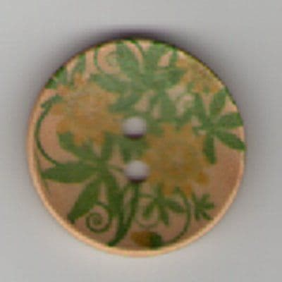 Painted Wooden 2 hole Button B4