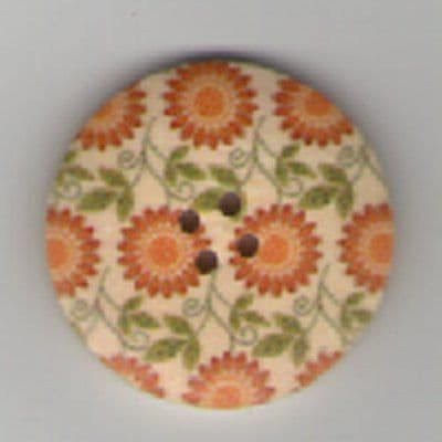 Painted Wooden 4 hole Button B10
