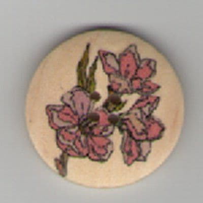 Painted Wooden 4 hole Button B3