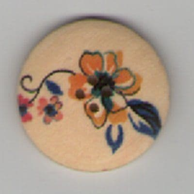 Painted Wooden 4 hole Button B7