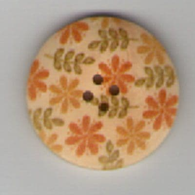Painted Wooden 4 hole Button B8