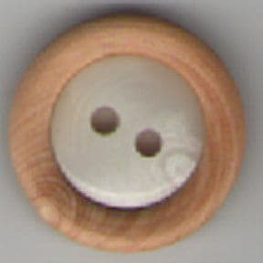 Wooden & Pearl Effect Button B13