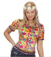 60's 70's Hippie Daisy Headdress (2432)