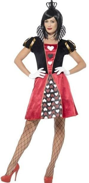 Carded Queen of hearts Plus Size Costume