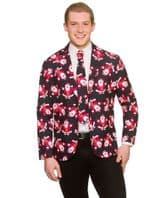Christmas Jacket & Tie - Black Santa (XM4643)
