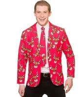 Christmas Jacket & Tie - Red Reindeer (XM4642)