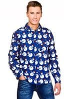Christmas Shirt - Blue Snowman (XM4627)
