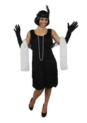 Deluxe 20's Flapper Costume Black (ILFD4610)