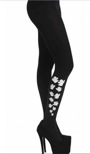 Escaping Ghost Halloween Tights Plus Size - Pamela Mann