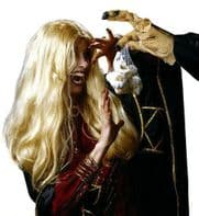 Ladies Blonde Witch Wig Long Scary Halloween Fancy Dress Buffy Vampire