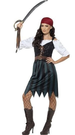 Deckhand Pirate lady Plus Size Costume
